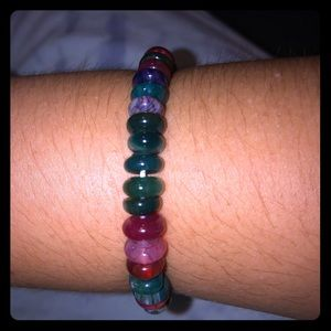 🍬Multicolor Tourmaline Bead Stretchy Bracelet 🍬
